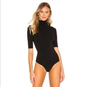 Commando Ballet Turtleneck Short Sleeve Bodysuit
